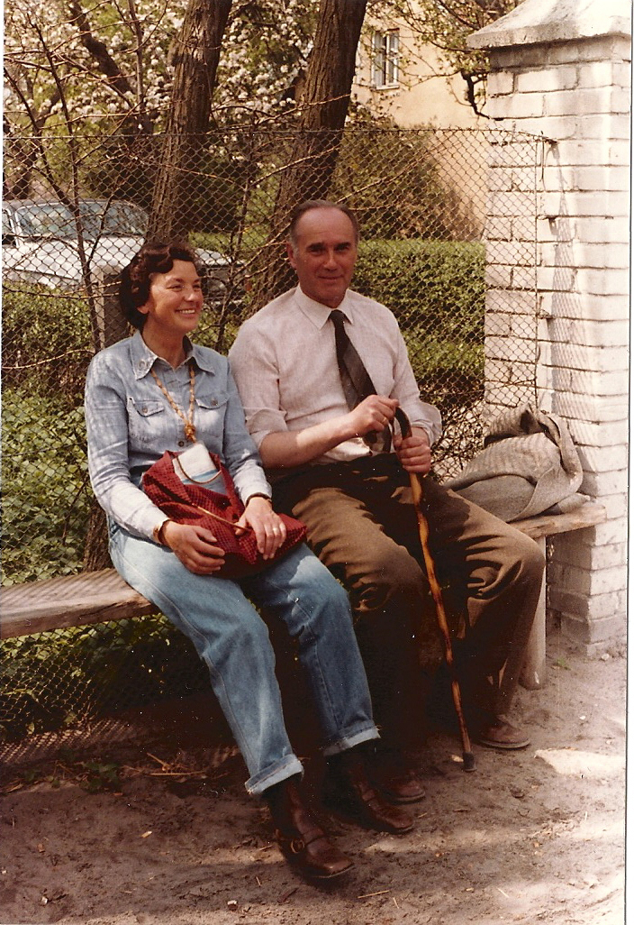 Brita Axelsson and Director Ignacy Jawarowski during a visit at Michalów Stud in 1980. Photo: Rolf Axelsson