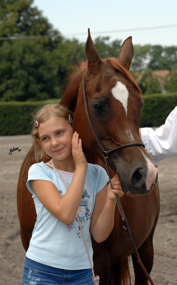 Kwestura with a little friend at her last appearance at Michalow after she was sold